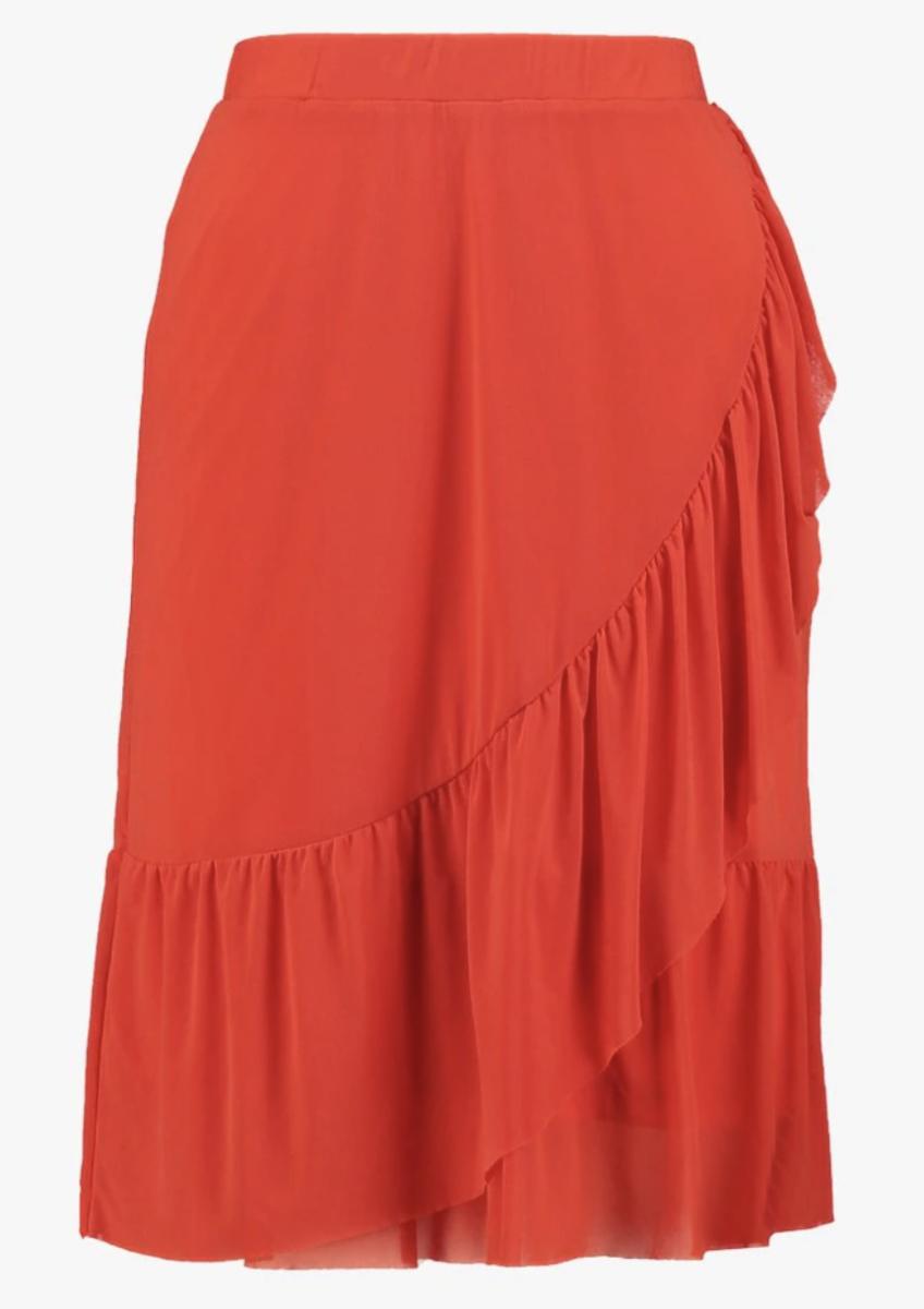 Orange A-line skirt