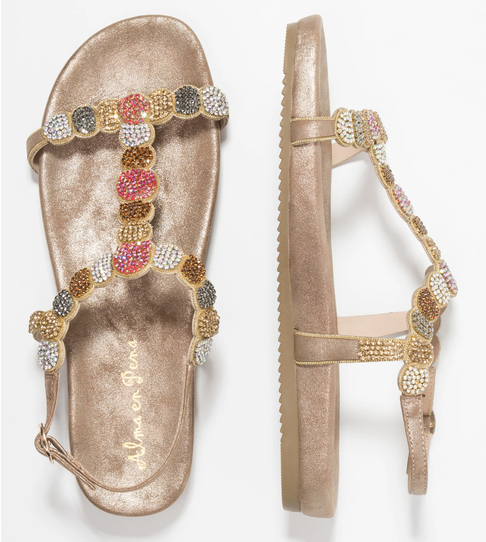 Multocoloured sandals
