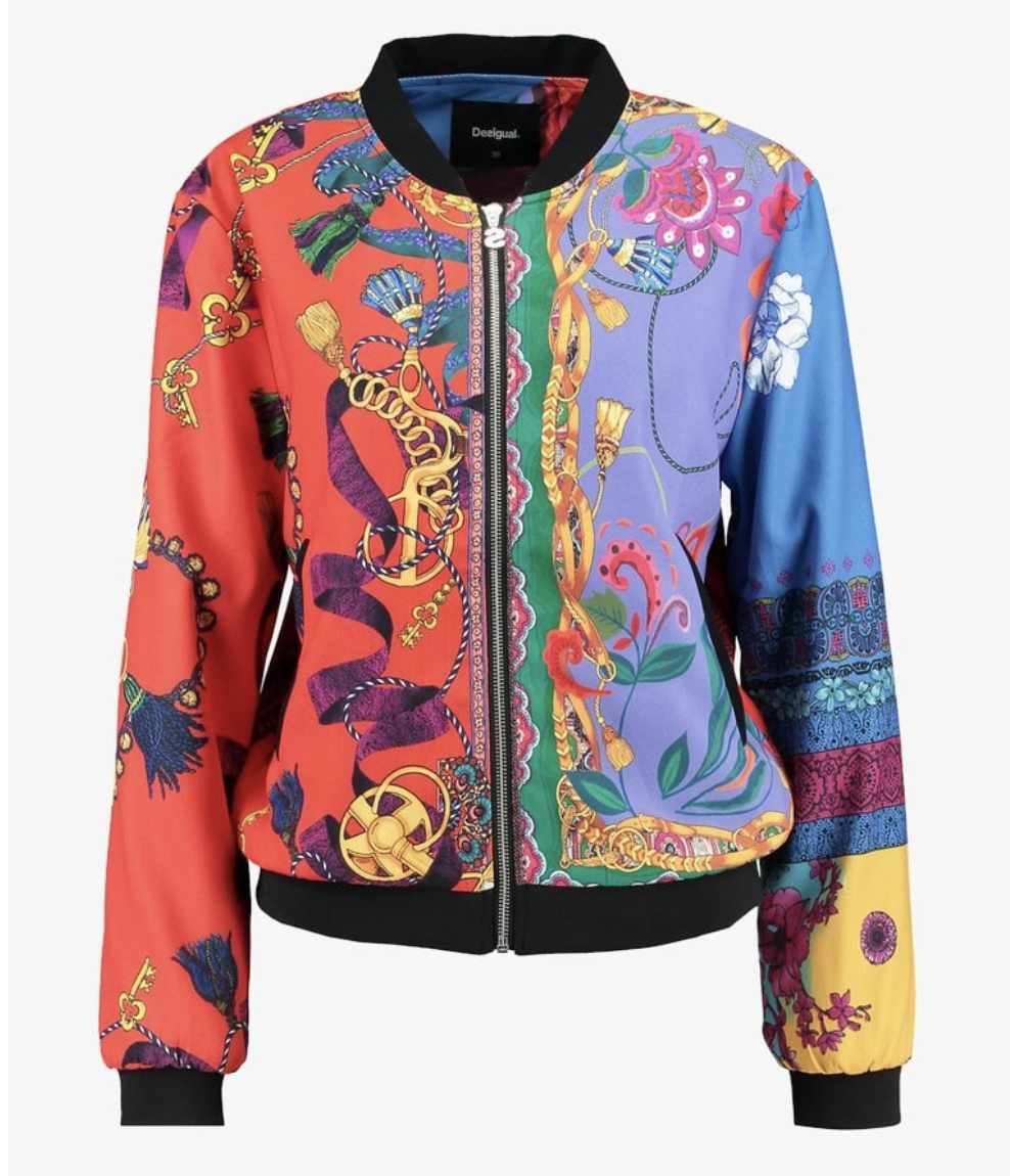 Desigual multicolour bomber jacket
