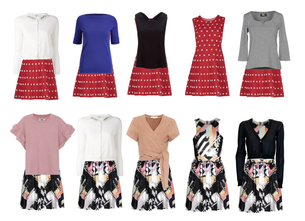 Different ways of layering summer dresses to make them look like skirt-and-top outfits