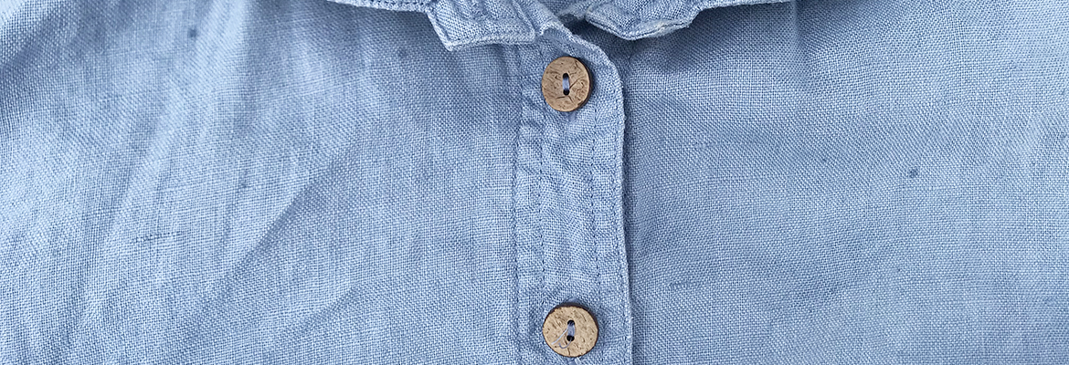Old shirt with boring buttons
