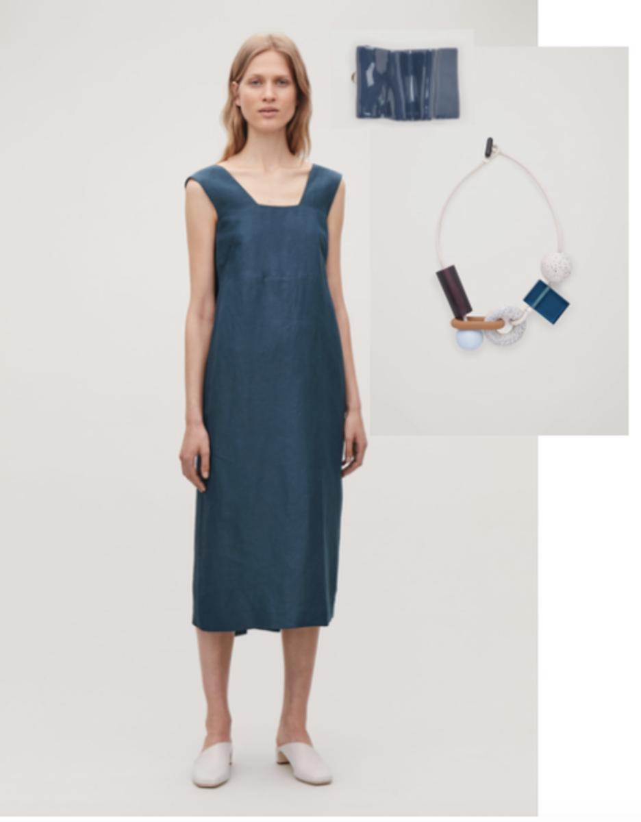 kjole med tilbehør for dus somme